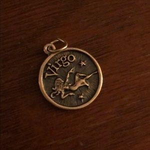 STERLING SILVER Virgo Horoscope Pendant Charm
